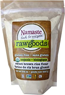Namaste Foods Organic Sweet Brown Rice Flour, Gluten Free, 24 Ounce (Pack of 6) – Allergen Free