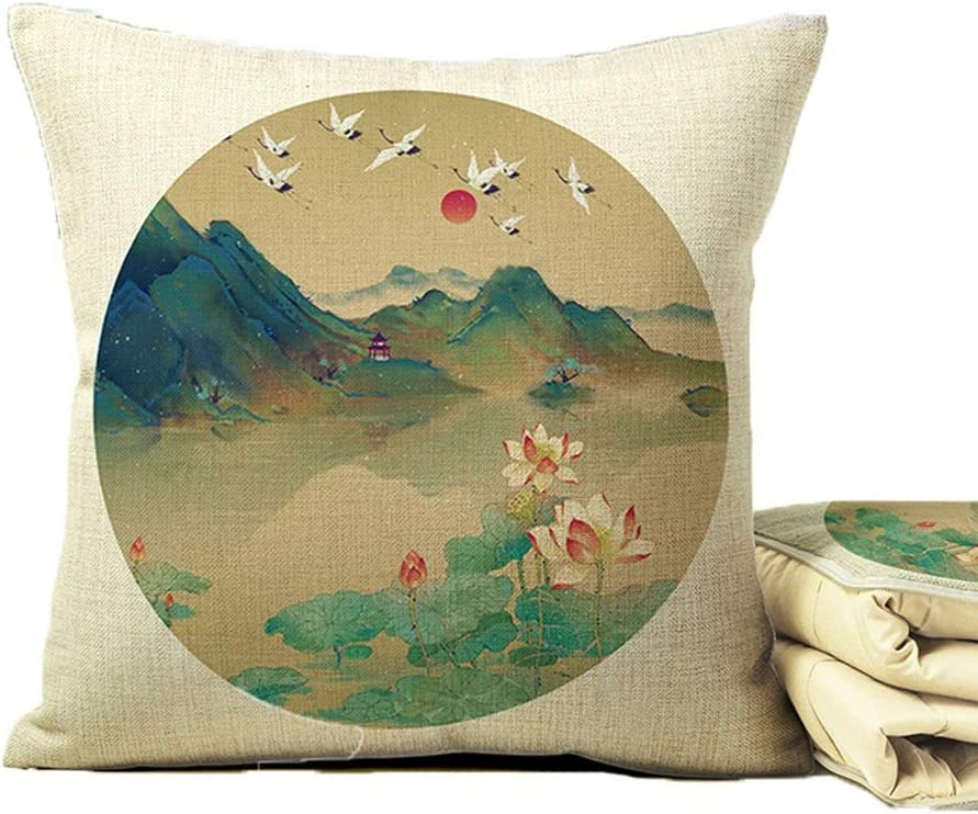 Alternative dealer Triangle Pillow Cushion Vintage Quilt 100% quality warranty! Offi Lotus Dual-use