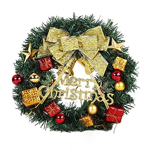 Garland de Navidad la Decoración del Regalo Corona de Navidad Coronas Navideñas Guirnalda de Navidad para Navideñas Fiesta de Bodas Fondo Pared Decoración Decoración para Ventana Puerta Chimenea 30cm