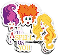 Snoopdy 3 PCs Stickers Sanderson Sisters Spell Hocus Pocus 4 × 3 Inch Die-Cut Wall Decals for Laptop Window