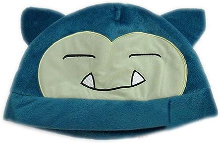 edf6ad58518 Snorlax Hat Cute Cap Plush Hat Cosplay Hat Beanie Blue