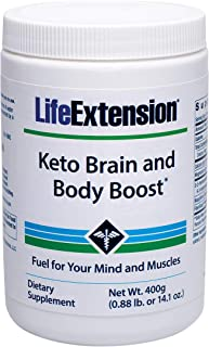 Life Extension Keto Brain and Body Boost Powder, 14.10 Ounce