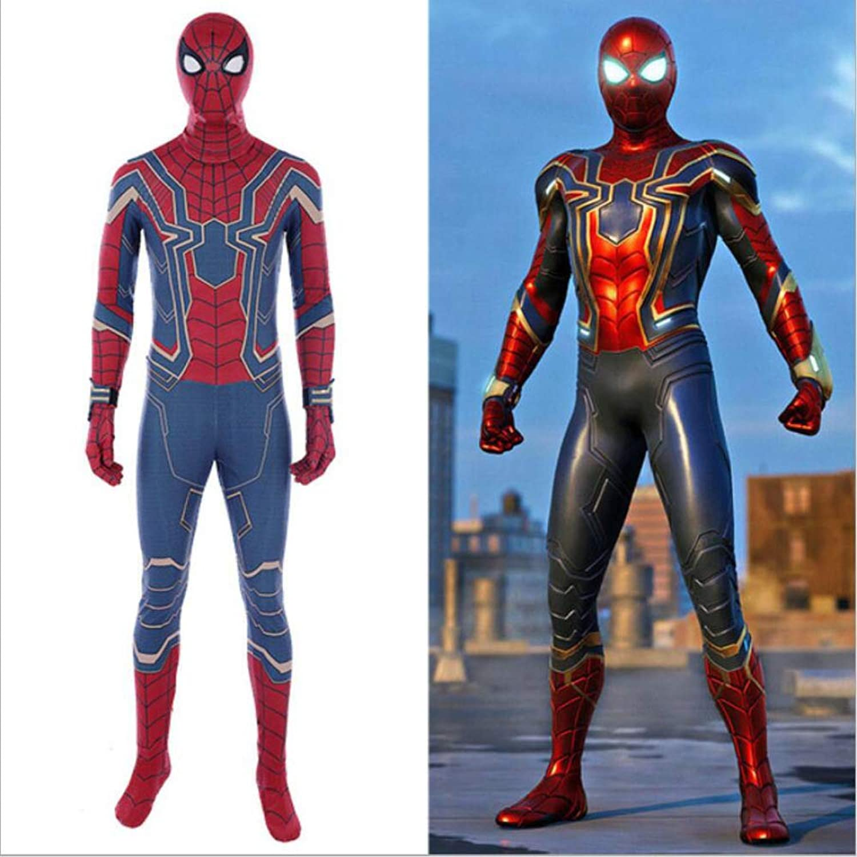 The Avengers Costume Spiderman Cosplay Kostüm Verkleidung Kostüm Spandex Jumpsuits Bodysuit Halloween Kostüm,Adult-XS