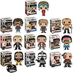 "Funko POP Exclusive Mystery Starter Pack Set of 10 ""Includes 10 Random Funko POPS Will Vary and No Duplicates"". Includes: 10 random style funko pops. The assortment will range and vary from these titles : movies , cartoons , sports , t.v. shows , t.v..."