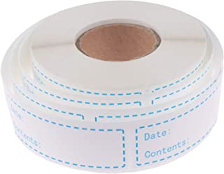 500 Pieces Removable Food Storage Labels Freezer Labels 1x3in Food Storage Stickers Refrigerator Freezer Labels Adhesive Paper Labels(1 Roll,Blue)