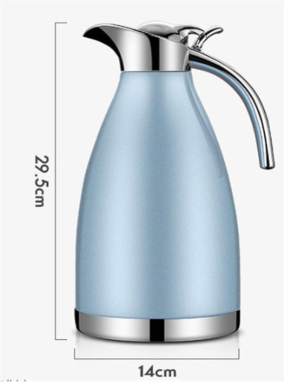 Gzjdtkj Waterkoker 304 Rvs houden warm koude waterkoker Thermos Pot dubbellaags vacuüm 2.0L koffie thee warm water container Geïsoleerde fles (Kleur: 6) 9