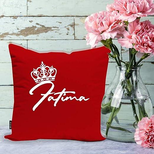 Gifts Zone Fatima Name Beautiful Red Cushion Cover
