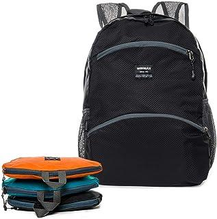 winmax Mochila plegable ligera de 20 l, resistente al agua, práctica mochila de senderismo, mochila plegable unisex pequeña para camping, viajes, deportes al aire libre