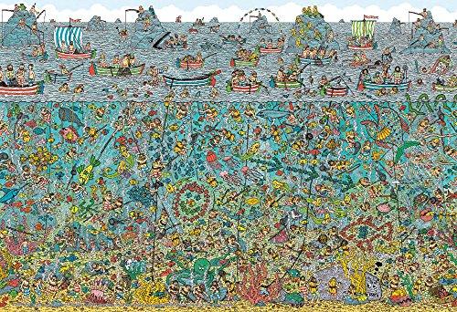 Beverly 150-delige puzzel Waar is Wally? Diepzeeduikers groot stuk (26x38cm)