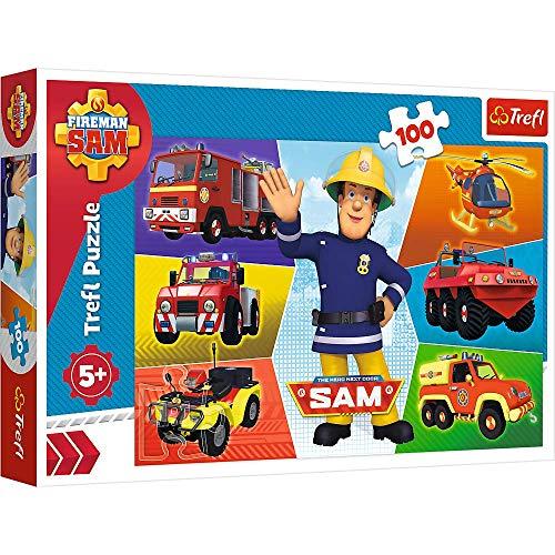 Brandsseller Kinder Puzzle 100 Teile mit Motiven im Stil von Feuerwehrmann Sam