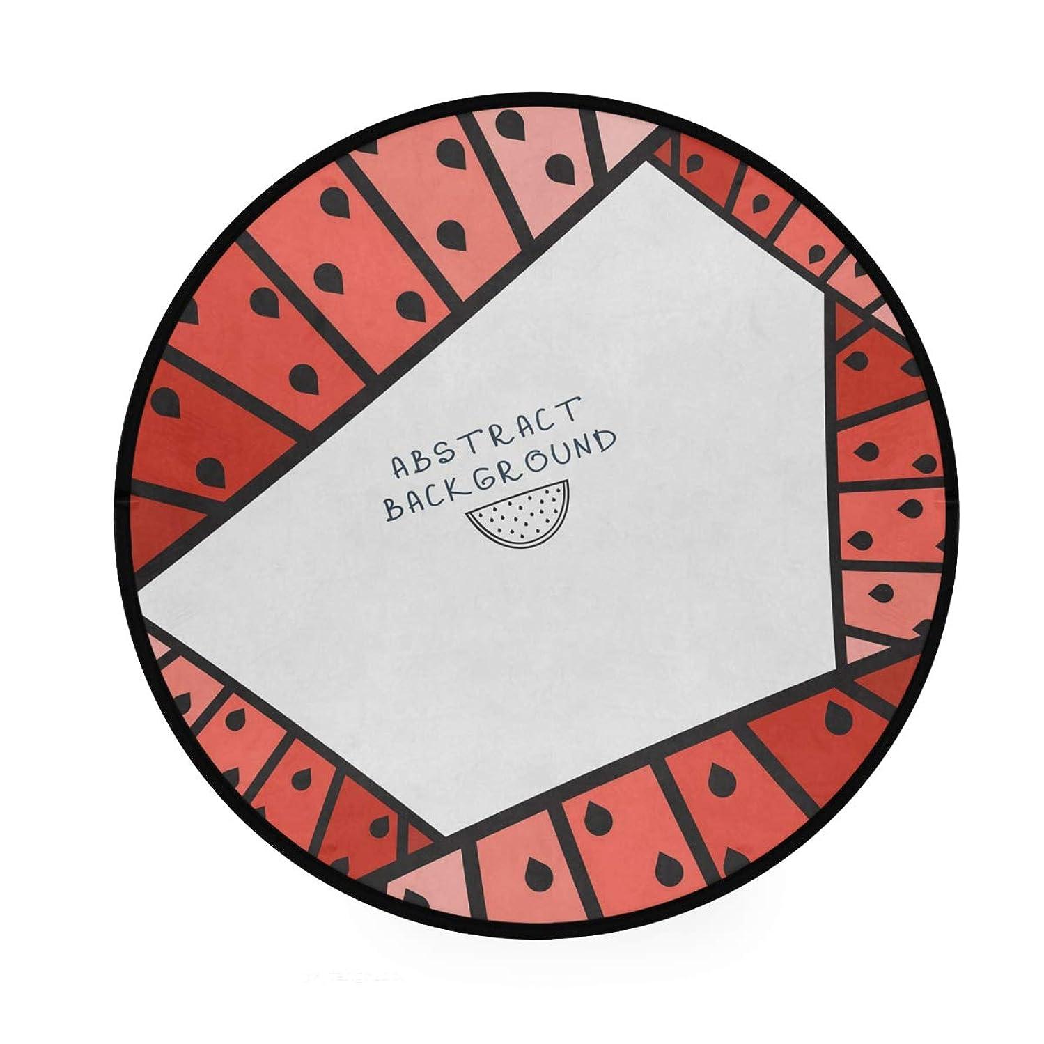 口ひげヘビーお尻ラウンドマット スカル柄 円形マット 滑り止めのカーペットの丸い部屋 高級 丸いラグ 円形 リビング 子ども部屋 柔らかい エコ 防音 防カビ抗菌 オールシーズン使用 直径92cm