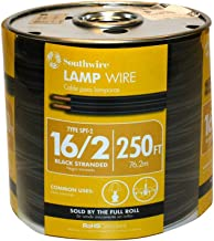 Southwire 55681844 250-Feet 16-Gauge, 2 Conductor 16/2 Type SPT-2 Lamp Cord-Service Parallel Cord with Thermoplastic Insul...