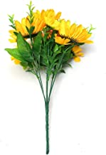 Silk Artificial Sunflowers Bouquet Wedding Decoration Floral for Home Garden Hotel Decor Real Touch Fake Flowers,A2 4 Heads