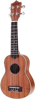 Andoer® 21in Ukelele Compacto Ukelele Hawaiano Caoba Aquila Rosewood Fretboard Puente Soprano Instrumento de Cuerdas 4 Cuerdas