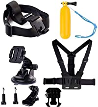Navitech 8 in 1 Action Camera Accessory Combo Kit Compatible The Veho Muvi K-Series Action Camera