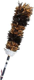 ESCI 【日本製】最高級の手造り毛ばたき! ソフトで艶やかな鶏毛のキャラ毛を使用! 全長約85cm ケバタキ茶・黒 M-60
