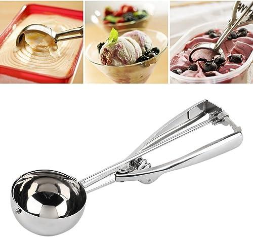 INOVERA LABEL Stainless Steel Handheld Ice Cream Serving Scooper Silver
