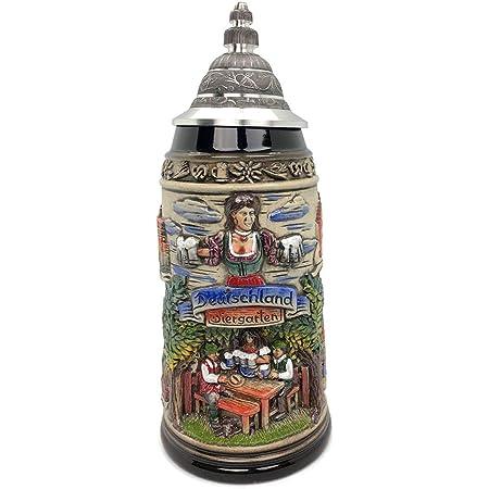 Deutschland Germany Biergarten Beer Garden Gift Boxed LE German Beer Stein 1 L