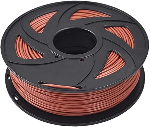 ABS 3D Printer Filament - 2.20 lb (1KG) The Diameter of 3.00 mm, Dimensional Accuracy ABS Multiple Color (Brown)