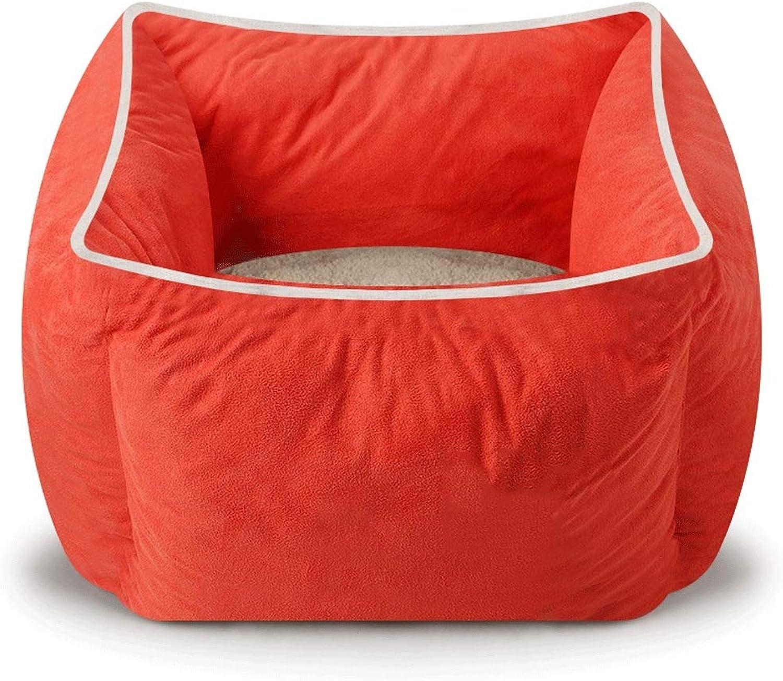 5GHjkj Pet Supplies Super Soft Thick Dirt Resistant Small and Medium Pets Multiple colors Choose pet cat pet Dog Kennel (color   orange)