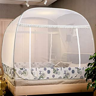 ZYJ-WZ Home Textile Mosquito Net Household Three Door Encryption 1.5 M 1.8 M Bed Mosquito Net 200220cm Full Bottom (Size : 180200cm)