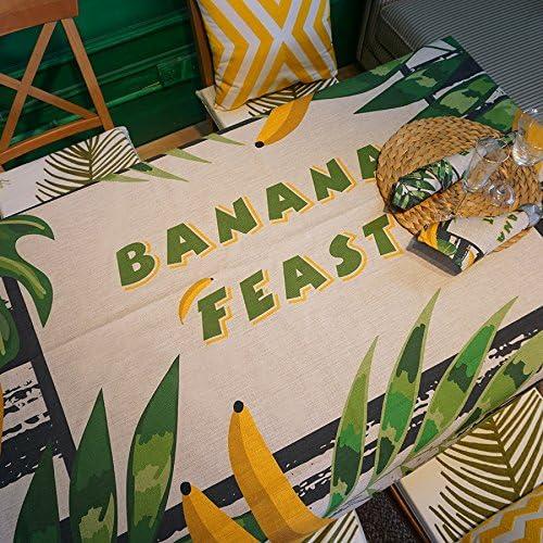 Tischdecke Dschungel Tropen Restaurant Tischdecke aus Baumwolle dicken Stoff von pastoraler Tuch Tischdecke rechteckig 200140CM Banana leaf