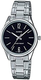 Casio Women's Quartz Watch, Analog Display and Stainless Steel Strap Ltp-V005D-1Budf, Silver Band