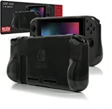 Orzly Comfort Grip Case for Nintendo Switch - Protective Back Cover for use on The Nintendo Switch Console in Handheld Gamepad Mode with Built in Comfort Padded Hand Grips - Smokey Slate