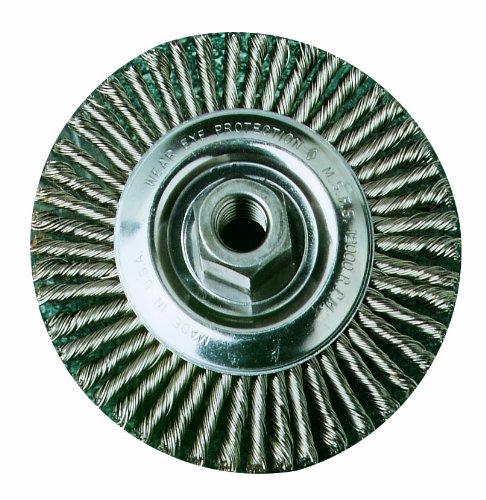SAIT 06441 4 x .020 x M14 x 2.0 Arbor Carbon Bristle Stringer Bead Knot /& Crimped Style Angle Grinder Wire Wheel United Abrasives