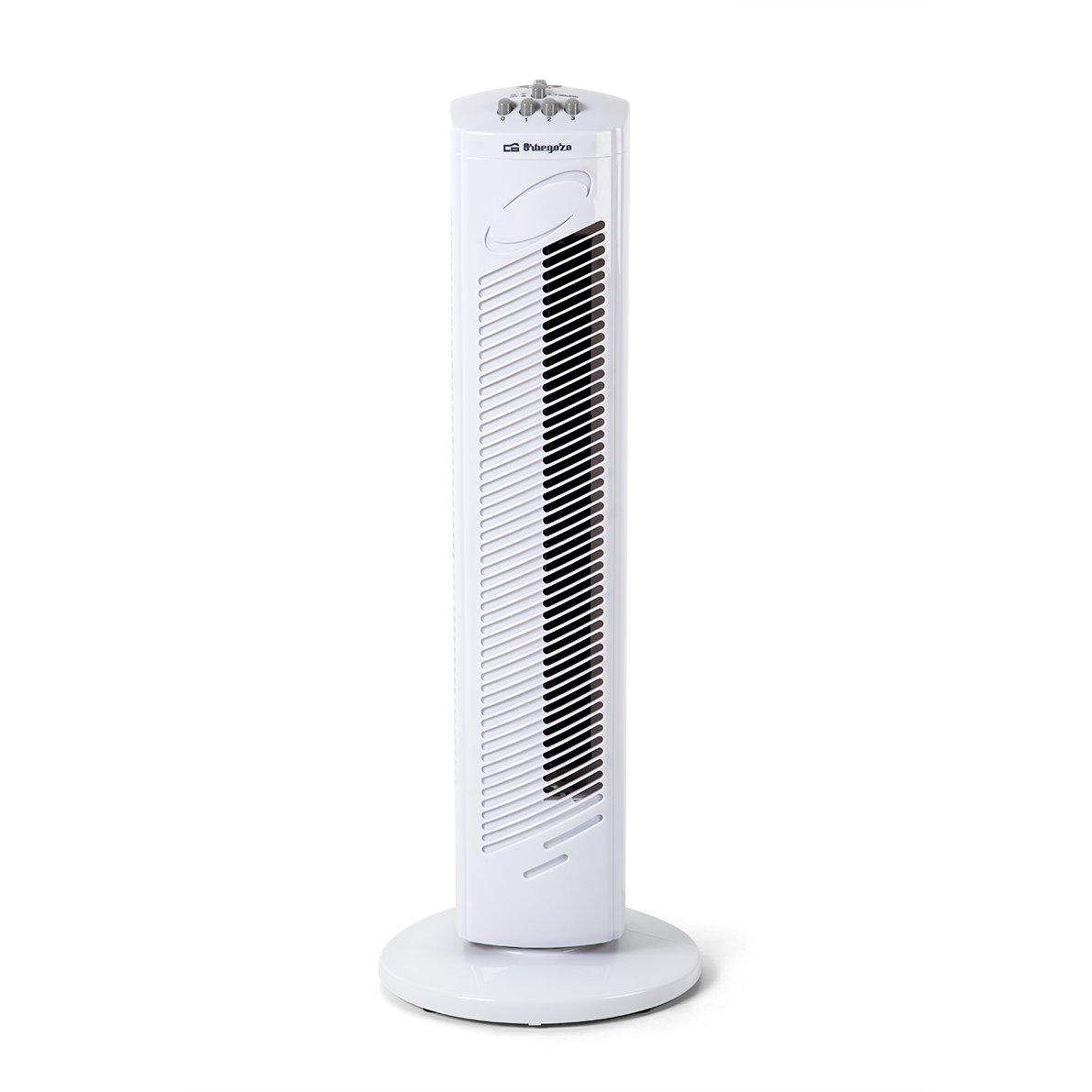 Orbegozo TW 0745 Ventilador de torre oscilante, 3 velocidadesfunción temporizador, silencioso, asa de transporte, 45 ...