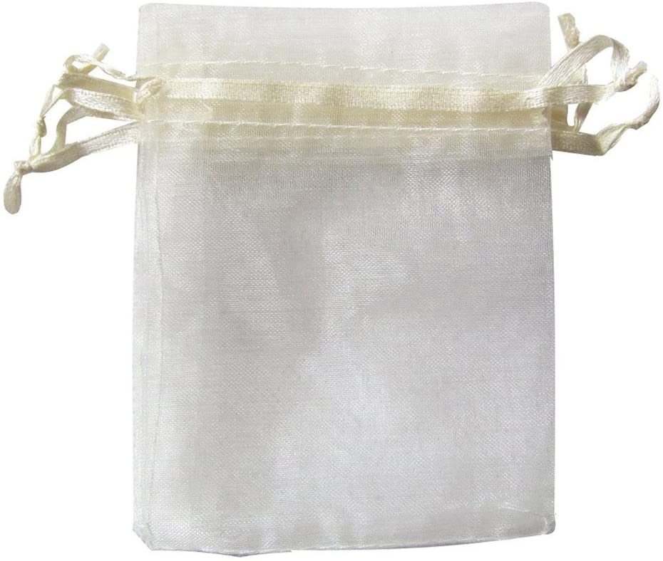 ATCG 100pcs 2.7x3.5 Inches Mini Selling and selling Organza Classic Bags W Drawstring Sheer