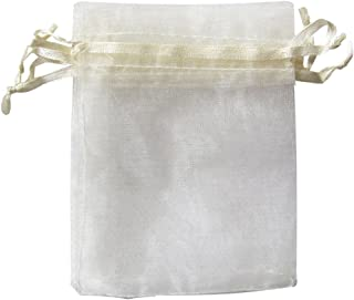 ATCG 100pcs 3x4 Inches Drawstring Organza Pouches Wedding Party Jewelry Favor Gift Candy Bags (IVORY)