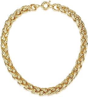 Mestige Women Brass Golden Lexie Necklace, 42 cm - MSNE3159
