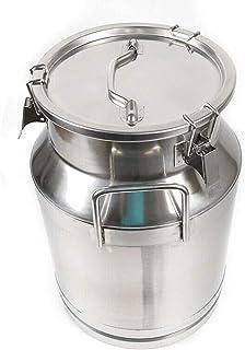 JHZDX Lait en Acier Inoxydable Canette De 30 litres du Lait De Cautionnement À La Caulet De Cauchure 7,9 Gallon Lait Peut,...
