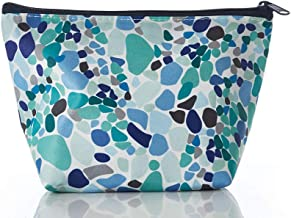 product image for Sea Bags Sea Glass Print Large Cosmetic Bag