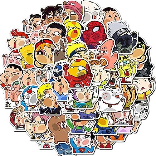 LYDP Lote de 50 pegatinas de cristal de dibujos animados para maletín, portátil, decoración de grafiti