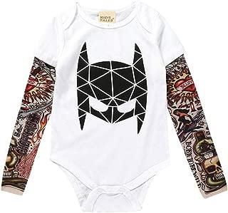 Tattoo-/Ärmel Grau//Schwarz,Baby Jungen Strampler,Cute Jumpsuit Outfit Body,Jungen Langarm Body KiyomiQvQ Einteiler f/ür Jungen 3-24 Monate