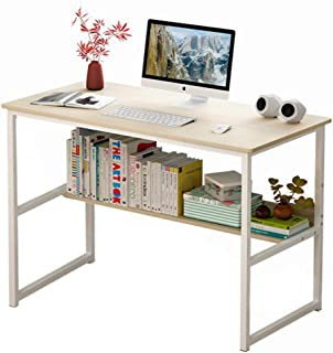 Computer Table Computer Desk Laptop Table Stand Workstation Table with Book Shelf Layer Large Size for Office Home Work St...