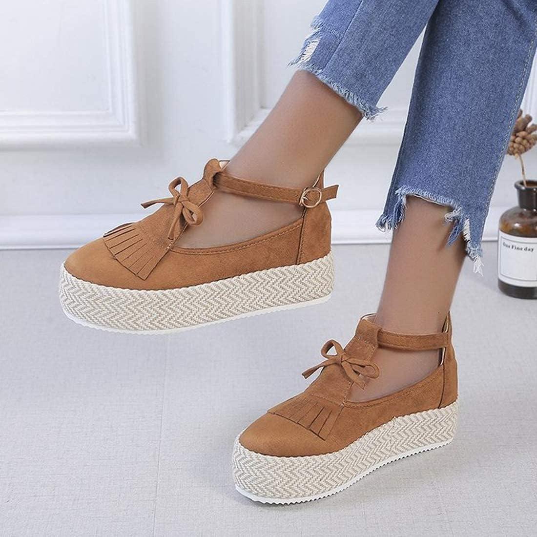 FMOGE Sandals for Women Platform Closed Overseas parallel import regular item Tassel Sandal Max 75% OFF Leather To