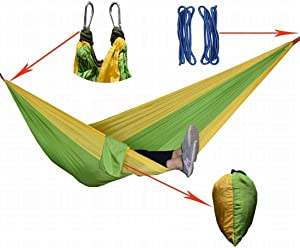 Lightpurple Outdoor Hammock Parachute Cloth Double Hammock Camping Hammock Outdoor Leisure Products  Color