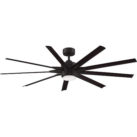 Fanimation MAD8152DZW Odyn Custom Ceiling Fan Motor with Light Kit, 56, 64 or 72 inch blade sweeps available, Dark Bronze