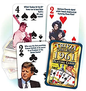 Flickback 1961 Trivia Playing Cards