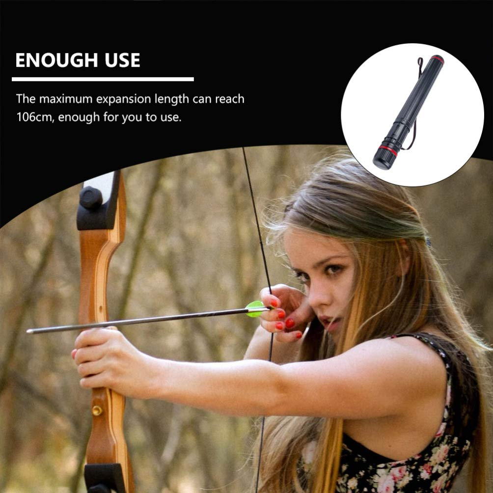 BESPORTBLE Archery Arrow Case Carrier with Strap Quiver Tube Case Single Shoulder Bag Archery Storage Accessories for Targets