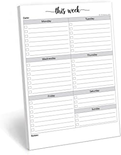 321Done Weekly Checklist Planning Pad - 50 Sheets (5.5