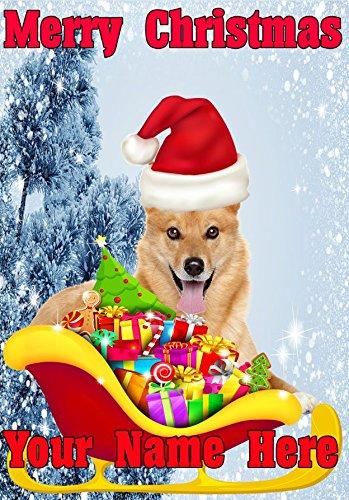 Finnische Spitz Hund Santa Schlitten nnc212Humorvolle Weihnachten Karte A5personalisierbar Karten geschrieben von uns Geschenke für alle 2016von Derbyshire UK