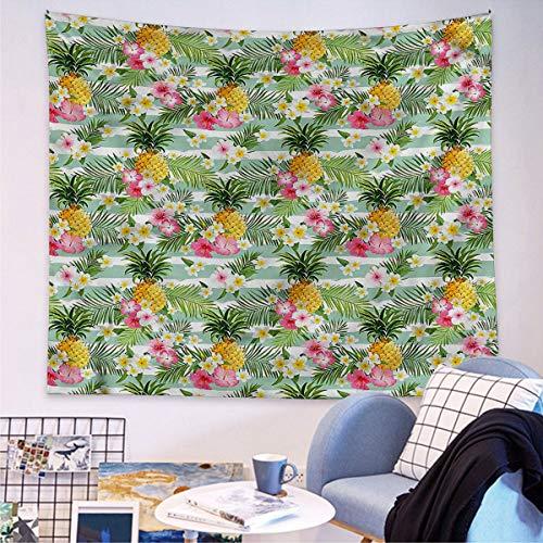 Fruits - Tapiz para colgar en la pared, diseño de plantas tropicales, 150 cm de largo x 210 cm de ancho