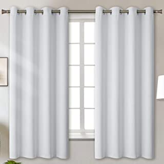 BGment Blackout Curtains for Bedroom - Grommet Thermal Insulated Room Darkening Curtains for Living Room, Set of 2 Panels (52 x 63 Inch,Greyish White)