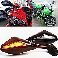 オートバイ led ウインカー ウインカー黒ミラー ヤマハ yzf-r1 r1 2002-2008 03 04 05 06 07