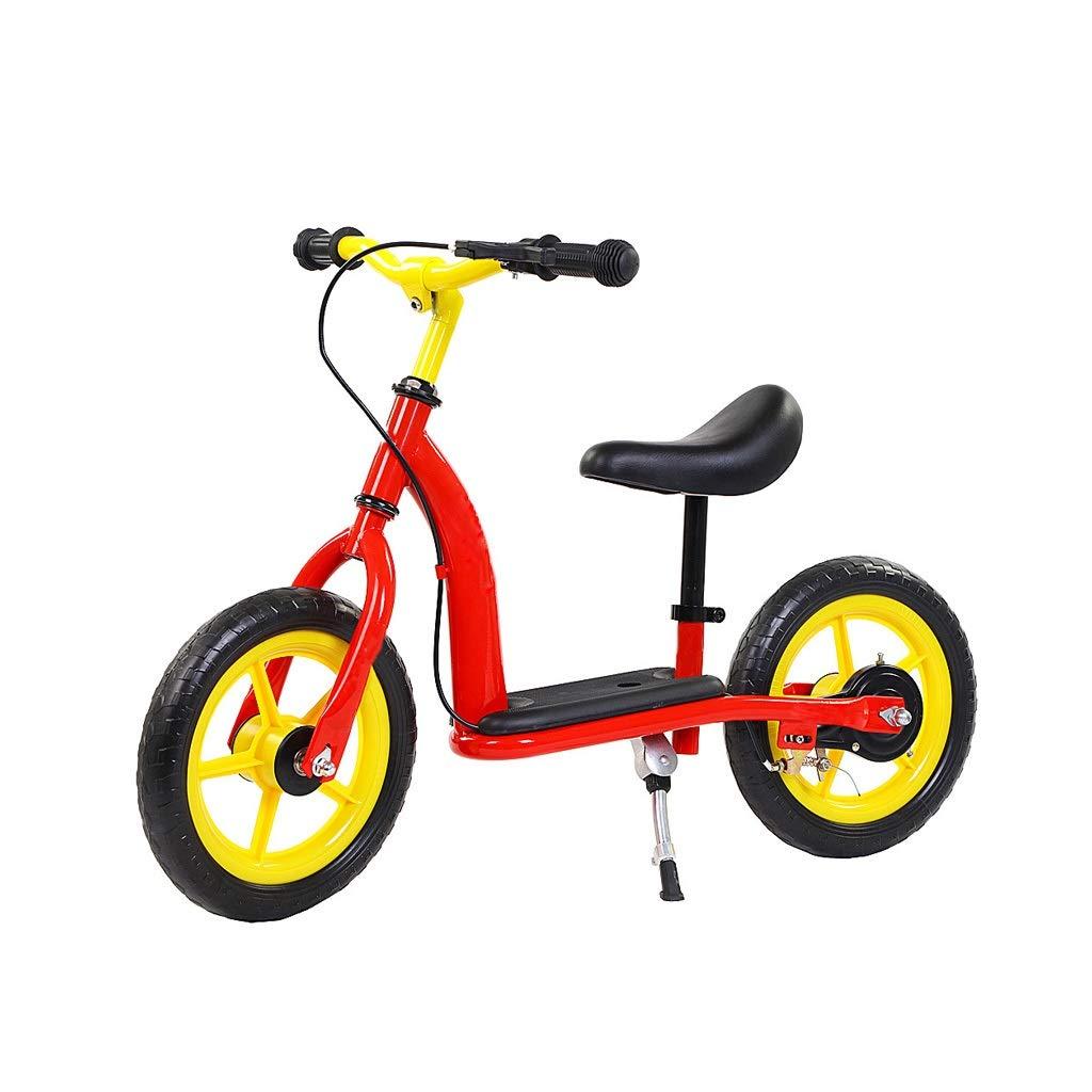 Bicicleta de equilibrio Bicicleta Para Niños, Bicicleta Sin Pedales Para Niños Pequeños Con Marco De Acero Al Carbono Manillar Ajustable Y Asiento Bicicleta Para Niños Pequeños De 12
