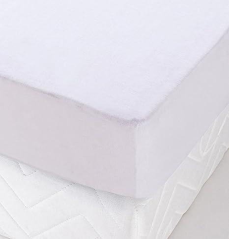 Toison dOr Prot/ège Matelas lit TPR Cumin Molleton Coton gratt/é Blanc 2x70x190